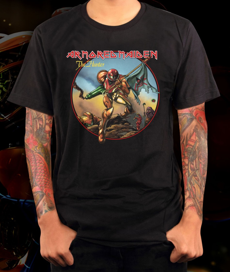 Pacman Table Game >> Metroid Armored Maiden Samus T-Shirt – Shirts For Gamers ...