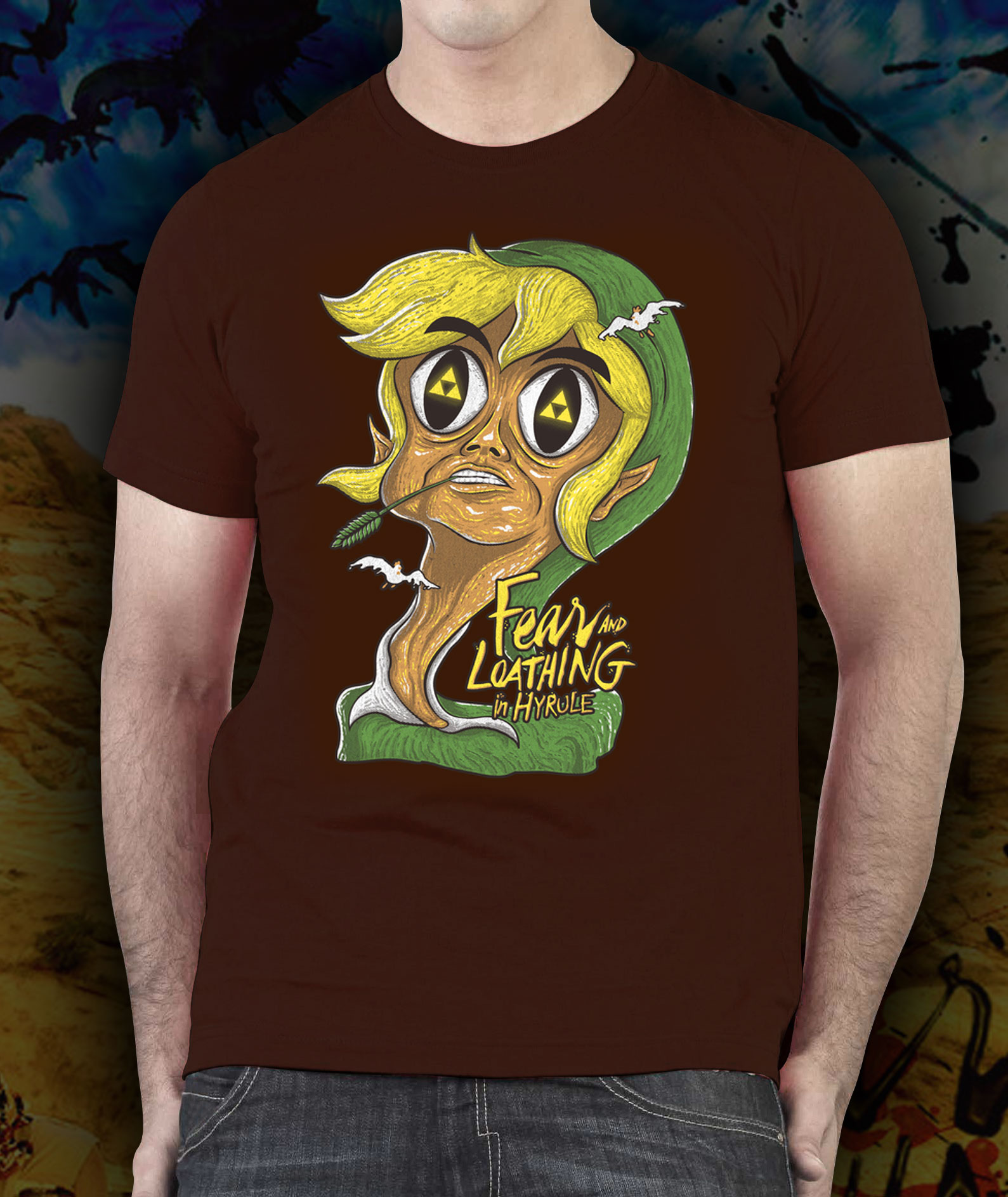 zelda fear and loathing in hyrule tshirt � shirts for